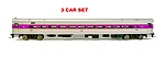 AT7216 - O MBTA 2 RAIL COMET II COMMUTER CAR (3) AS IS (NEW