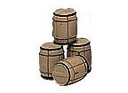 B92416 - BARRELS (SET OF 4) (LS)