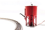 BL6130 - N OPER WATER TWR W/SND UNLETTE BARN RED NON-WEATHERED