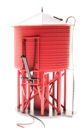 BL6140 - O OPER WATER TWR W/SND UNLETT BARN RED NON-WEATHERED