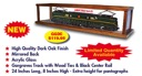 GGDC - O GAUGE DISPLAY CASE-24 INCHES GARGRAVES TRACK/MIRROR BACK