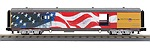 MT3068127 - UP BAGGAGE W/FLAG-BUSH FUNERAL FLAG-DRAPED CASKET INCLUDED