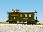 R12024 - US ARMY WOODSIDED CABOOSE-GRN