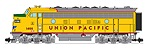 R22381 - UP F7 A UNIT YELLOW/GRAY