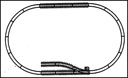 A12091 - SMALL EXTENDER TRACK SET (ONE MANUAL SWITCH)