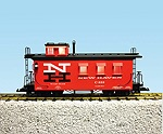 R12010 - NEW HAVEN WOODSIDED CABOOSE (SOCONY RED/BLACK ROOF)
