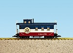 R12028 - PATRIOTIC CABOOSE-RED/WHITE/BL