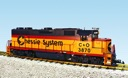 R22233 - CHESSIE SYSTEM GP38 YELL/BLUE