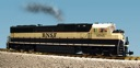 R22614 - BNSF SD70 MAC - GREEN/CREAM