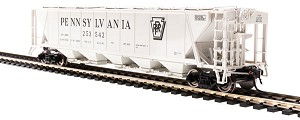 BL4087 - HO PRR GRAY H32 COVERED HOPPER
